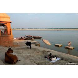 Sur la rive du Gange