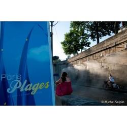 Paris Plage près des brumisateurs