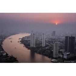 Vue sur Bangkok au couchant