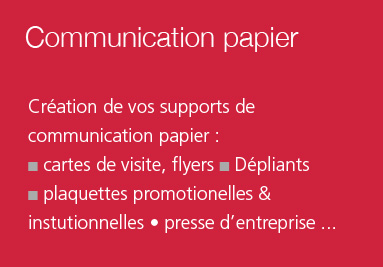 Création de supports de communication papier (print) Brest