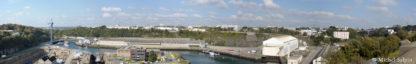 panorama de brest vue du pont de l'harteloire