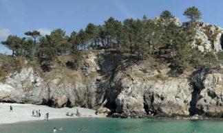 Panorama de la plage de l'Ile Vierge à Crozon