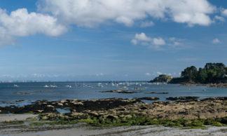 Panorama de la plage du Trez-Hir à Plougonvelin