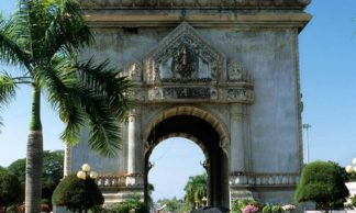Le Patuxai à Vientiane au Laos