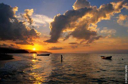 Coucher de soleil playa Las Ballenas - Las Terrenas - République domicaine