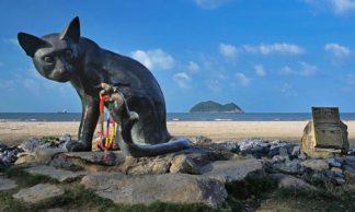 la statue du chat et de la souris - Songkhla