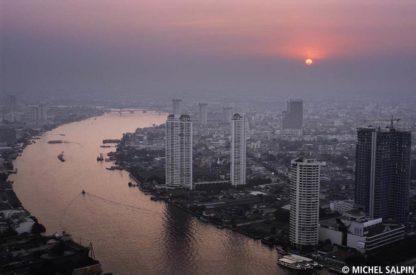 Vue sur le Chao Phraya - Bangkok