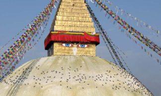 Le grand stupa de Bodnath à Katmandhu