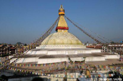 Le grand stupa de Bodnath à Katmandou