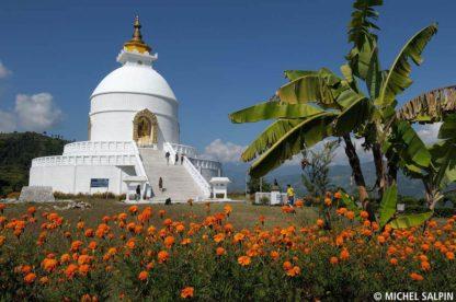 La pagode mondiale de la Paix - Pokhara - Népal