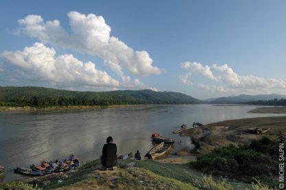 Le fleuve Irrawaddy à Sinbo - Birmanie