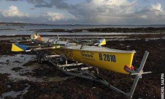 Aviron de mer sur la plage du Trez-Hir - Plougonvelin
