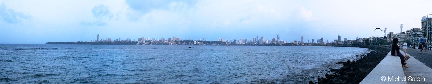 Marine Drive à Bombay - Inde