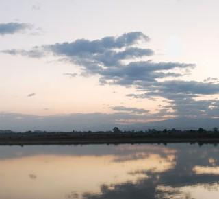 Le fleuve irrawaddy en Birmanie