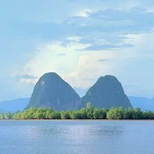 La baie de Phang-Nga en Thaïlande
