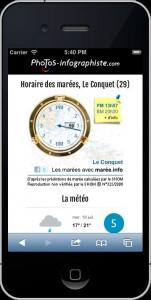 horaire des marées et ressources météorologiques - Le Conquet - Plougonvelin - Trez-Hir