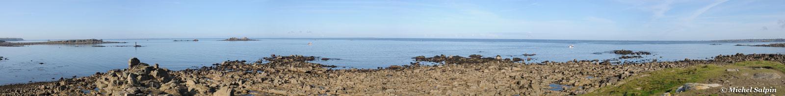 panorama de l'archipel de Molène à Lampaul-Plouarzel