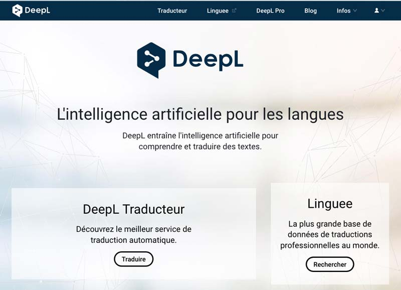 Deepl traducteur, moteur de traduction   Le blog