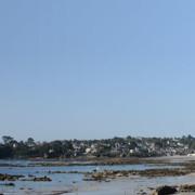 Panorama plage du trez-hir à Plougonvelin, vue de la plage de Sainte-Anne