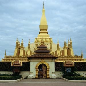 Vientiane au laos, sur les rives du Mekong