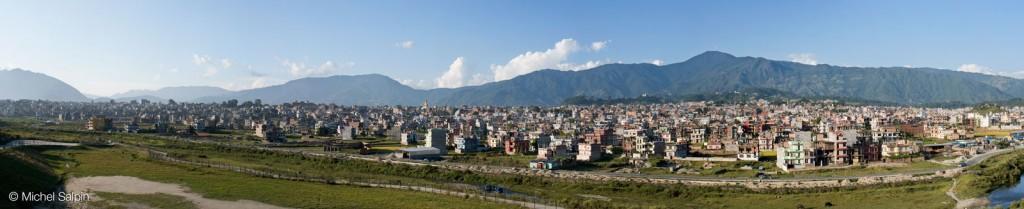 Panorama de Katmandou au Népal
