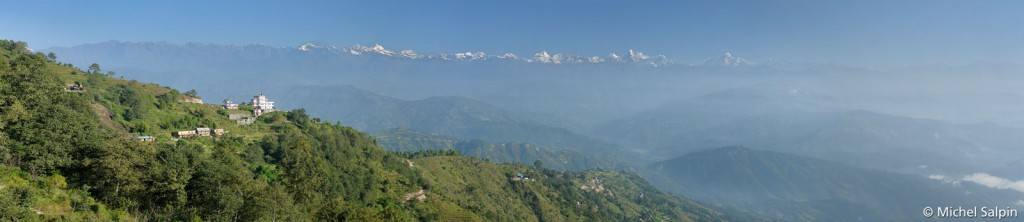 Panorama à Nagarkot au Népal