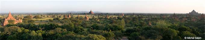 Panorama de Bagan en Birmanie