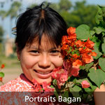 portaits à Bagan en Birmanie